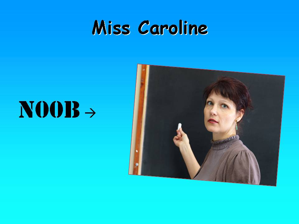miss caroline Back at school, what causes miss caroline to scream.