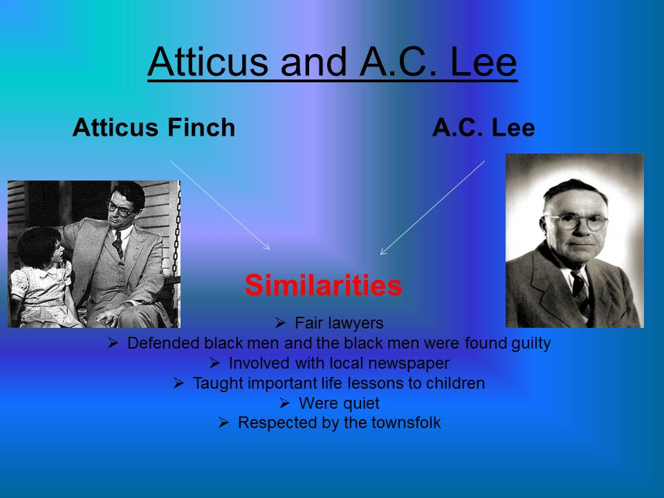 atticus essay A character sketch of atticus finch atticus finch is one of the major characters in harper lee's to kill a mockingbird written in 1960 atticus is a lawyer in maycomb, the representative of alabama in the state.