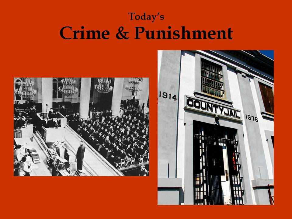 punishment for crimes. a punishment, hate crimes